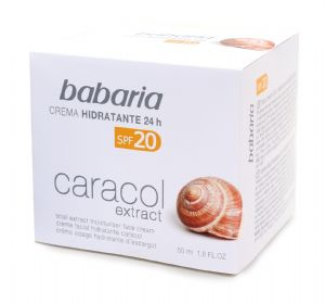 Babaria 24 hour Moisturising Face Cream with Snail Extract SPF20 50ml | Mia Beauty Ltd